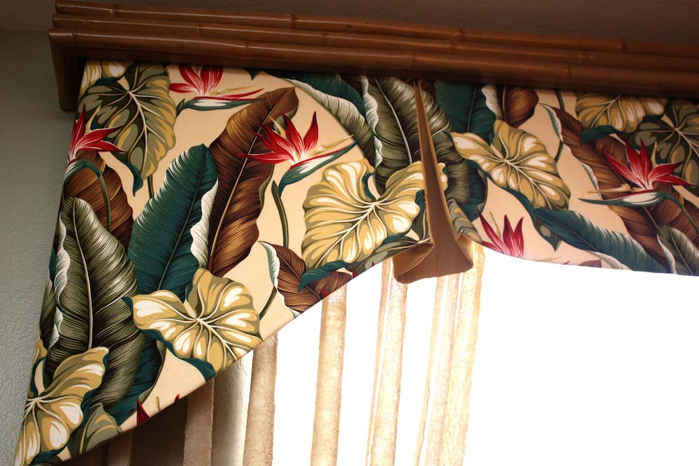 Custom Wood Valance and Tailored Valance