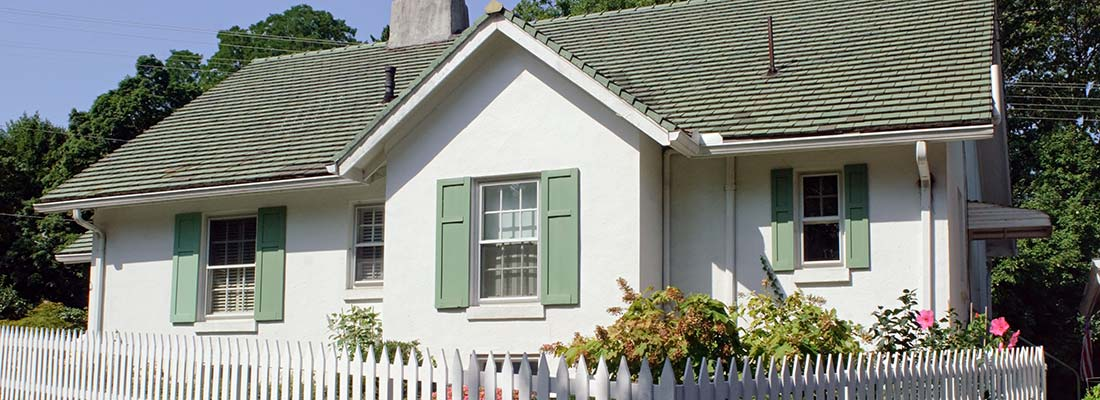 Exterior Window Shutters on Cottage Type Home