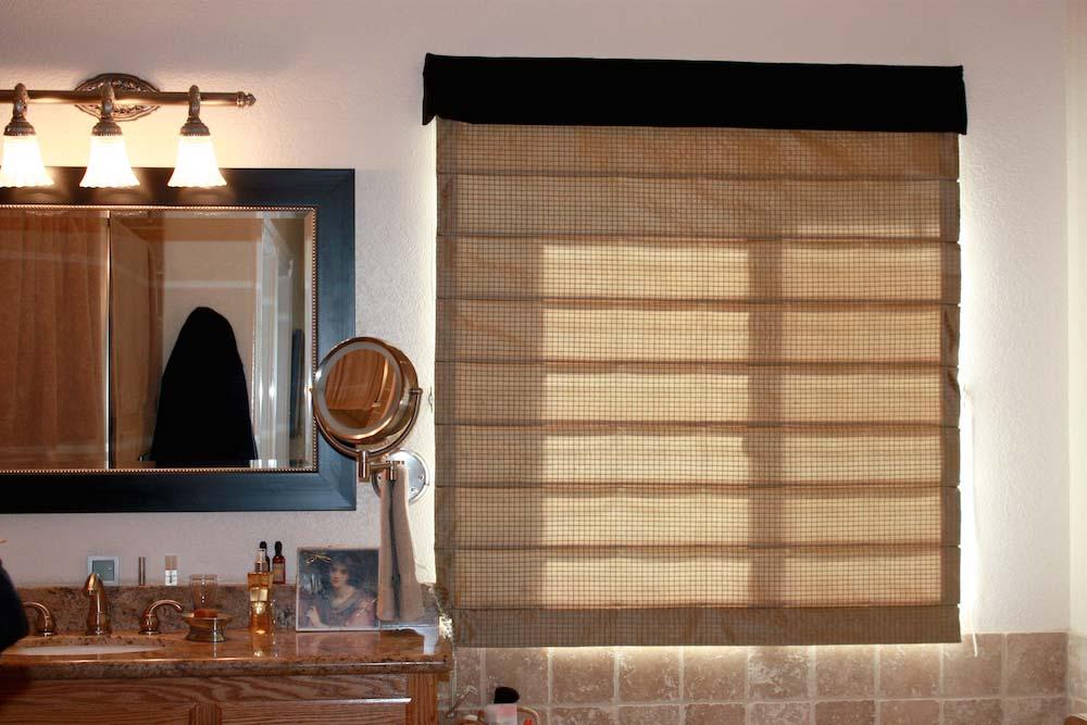 Roman Shade 2 Fabrics