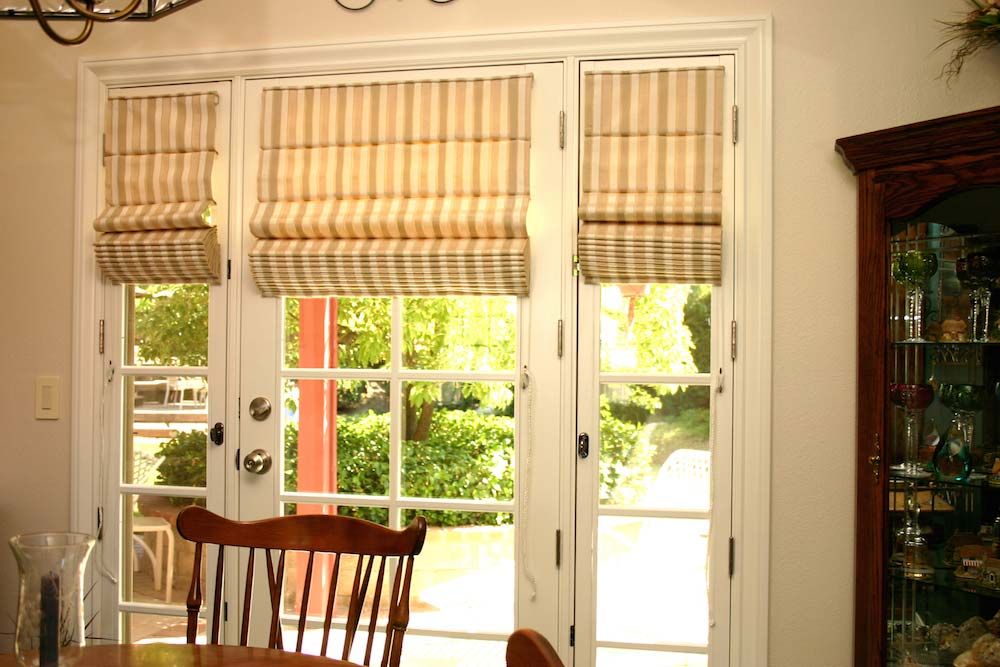 Roman Shades French Door