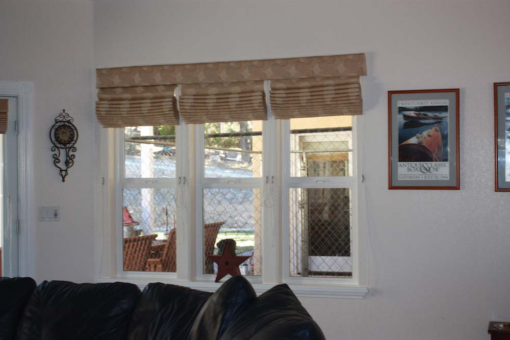 Roman Shades Multible Windows 1 Valance