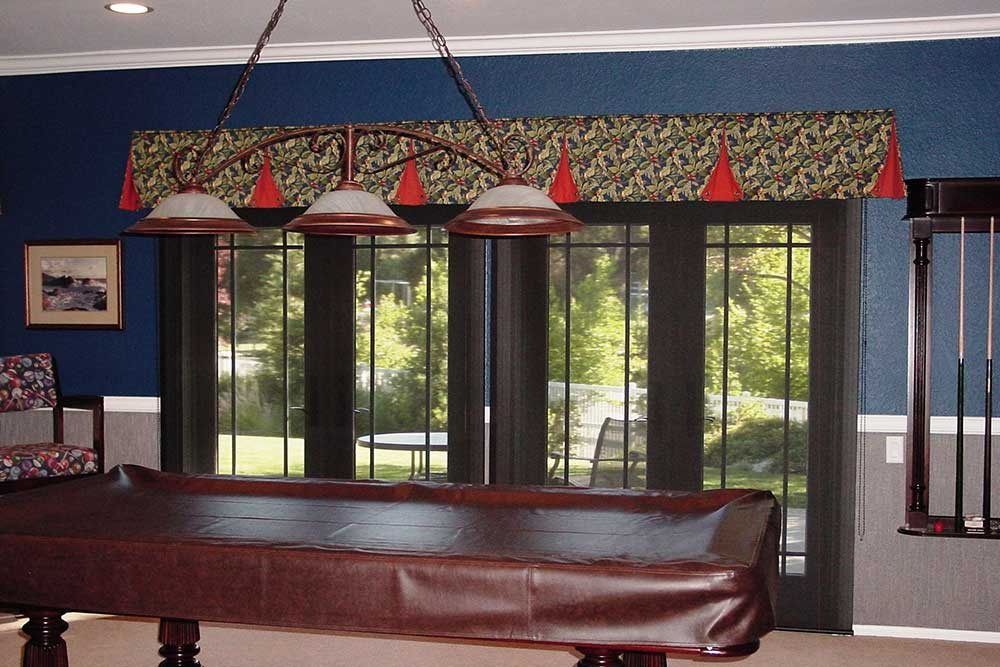 Valance With Solar Shades